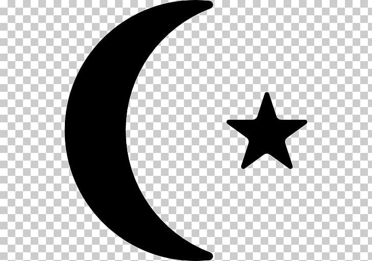 Star Symbol Crescent , blue half moon PNG clipart.