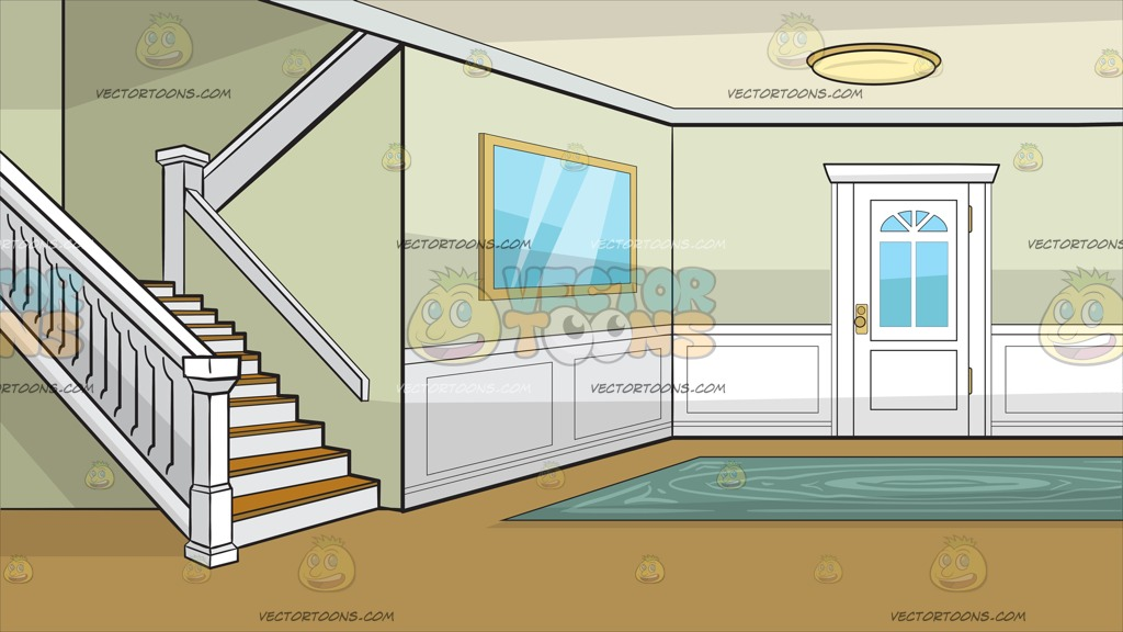 A Colonial House Entrance Hall Background » Clipart Station.