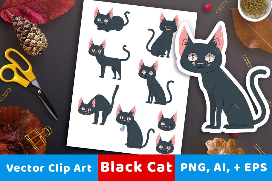 Black Cat Clipart.