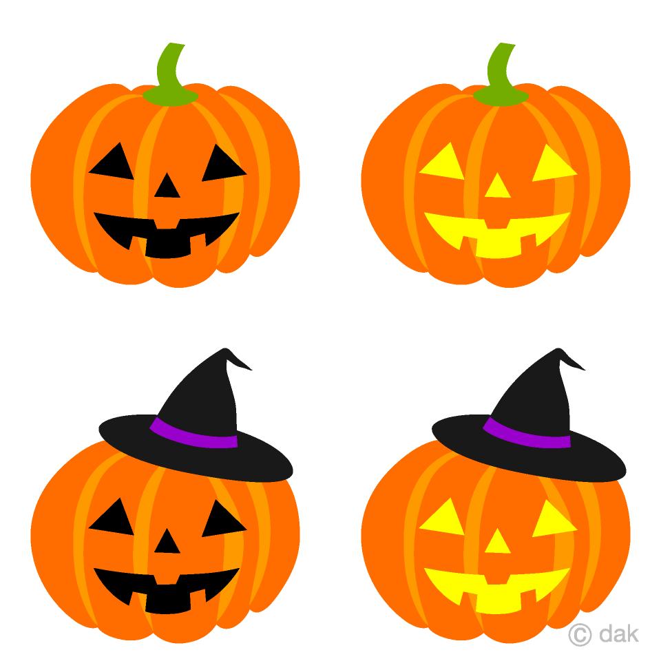 Cute Pumpkins Halloween Clip Art.