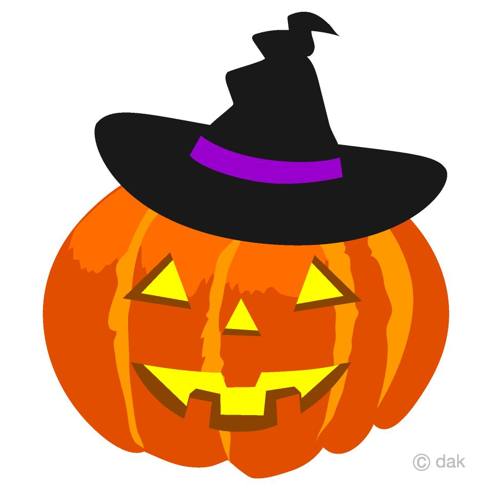 Free Witch Hat Halloween Pumpkin Clipart Image|Illustoon.