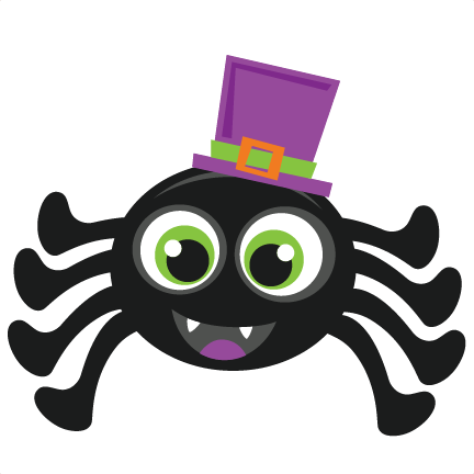 Halloween Spider Scrapbook Cut File Cute Clipart Files For Clever.