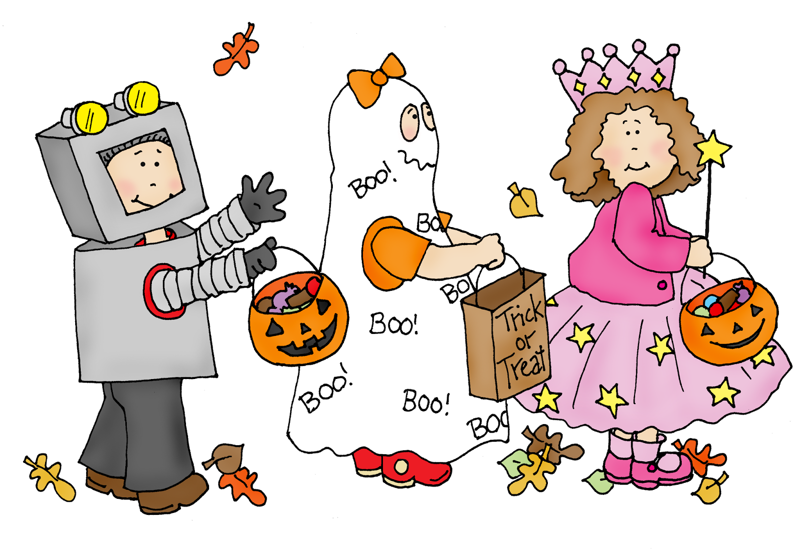 Free Dearie Dolls Digi Stamps: Trick or Treaters on the move.