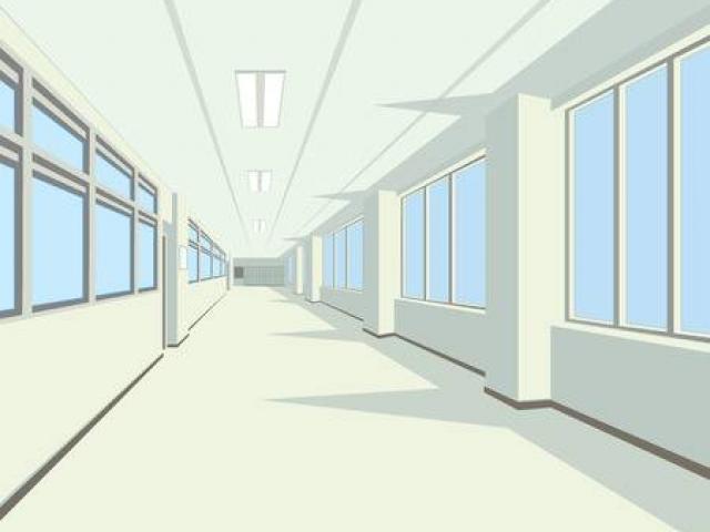 Cliparts School Hallway 5.