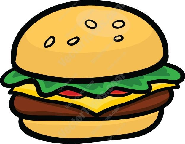 Cartoon hamburger clipart 5 » Clipart Portal.