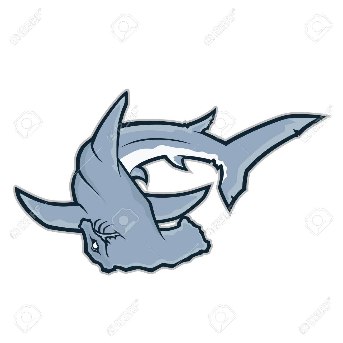 Hammerhead shark mascot.