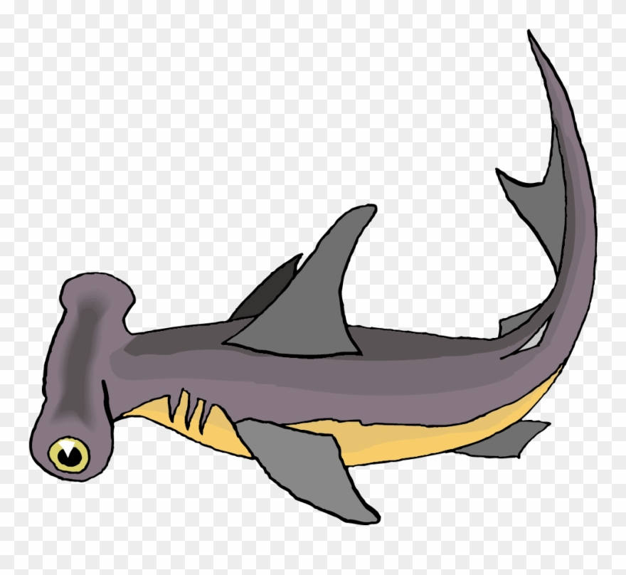 Cute Cartoon Hammerhead Sharks Clipart (#1308669).