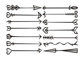 Hand Drawn Arrow Free Vector Art.