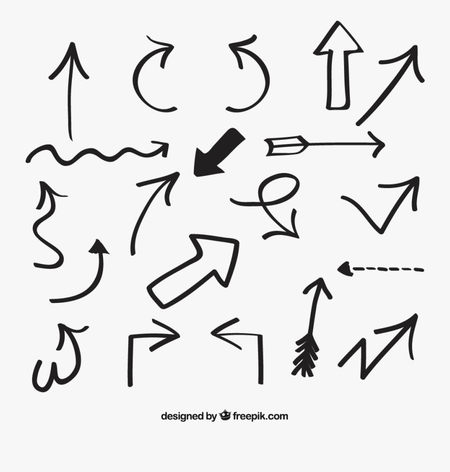 Drawn Arrow Calligraphy.
