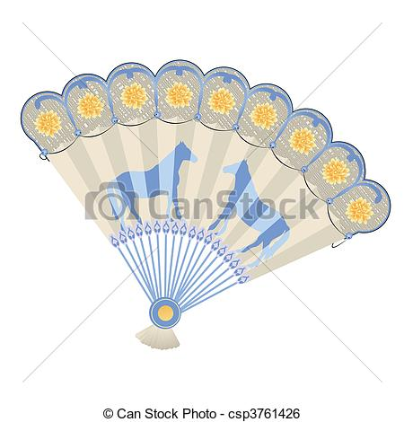 Hand fan Stock Illustrations. 6,575 Hand fan clip art images and.