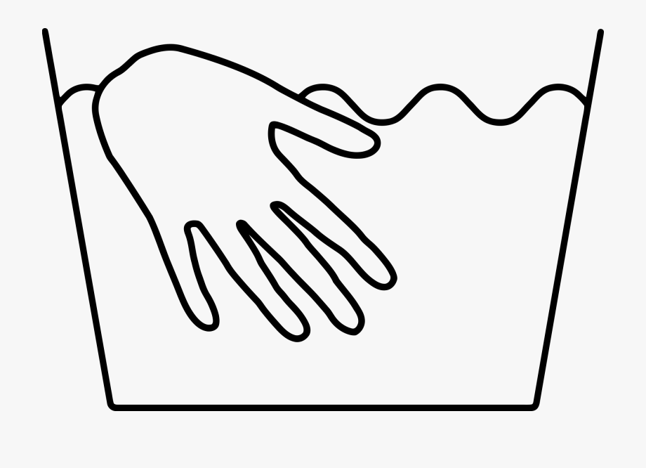 Clipart Of Wash, Hand In And Hand Was.