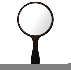 Hand Held Mirror Clipart.