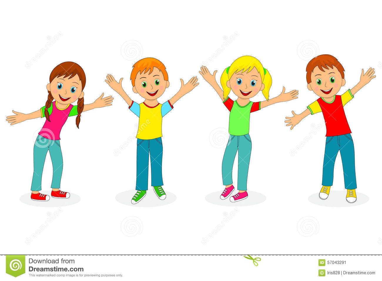 Child Reaching Up Clipart.