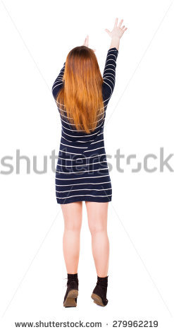 Woman Reaching Up Stock Images, Royalty.