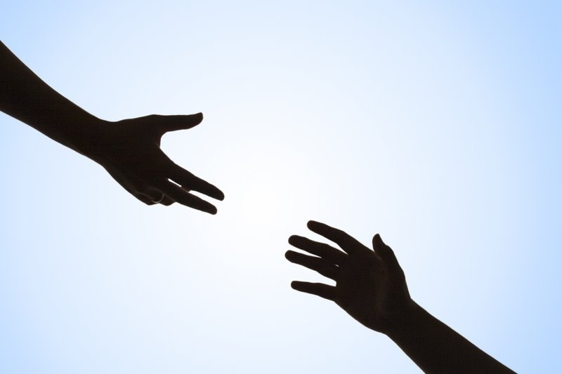 Hand Reaching Out Clipart.
