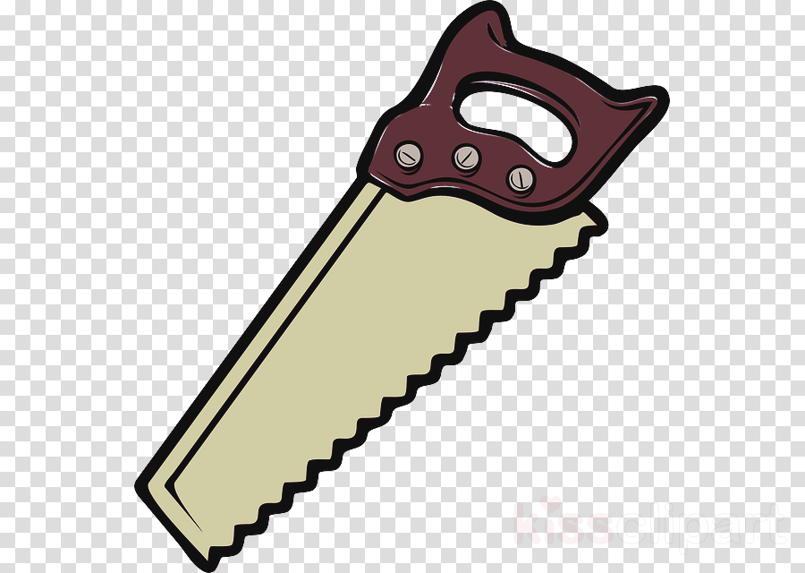 hand saw crosscut saw clipart.