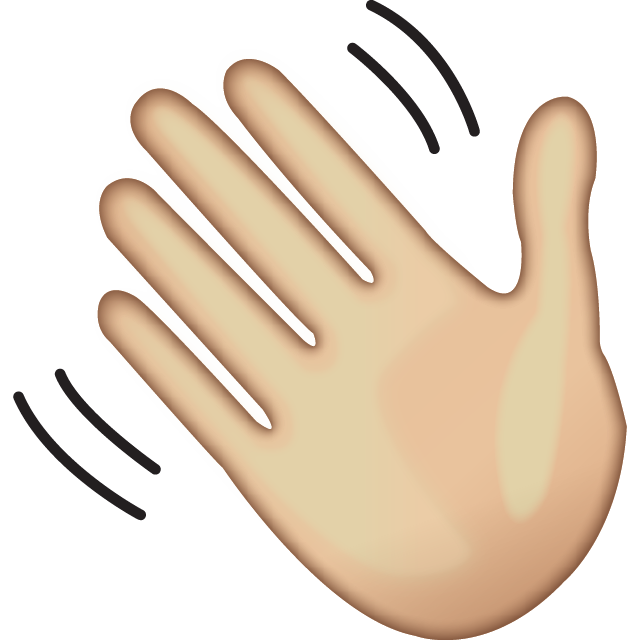 Download Waving Hand Sign Emoji.