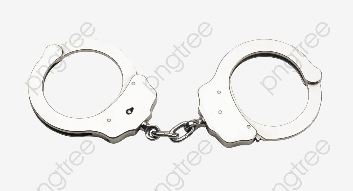 Handcuffs, Handcuffs Clipart, Floating Handcuffs, Silver PNG.