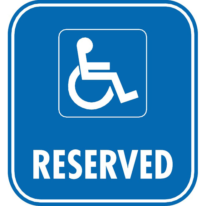 RESERVED PARKING VECTOR ROAD SIGN.