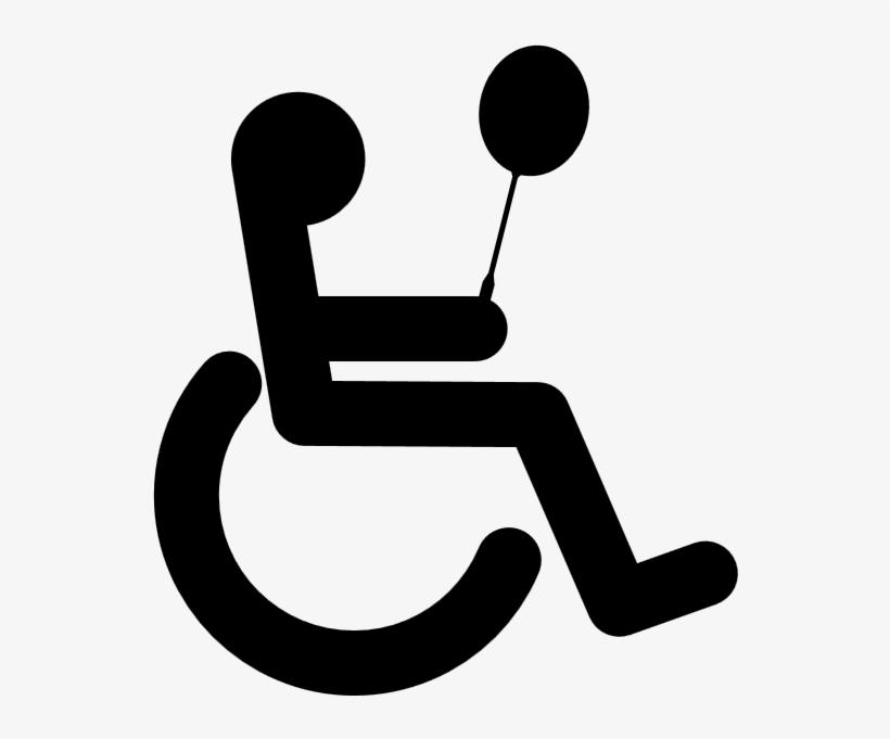Handicap Symbol Clip Art Silhouette.