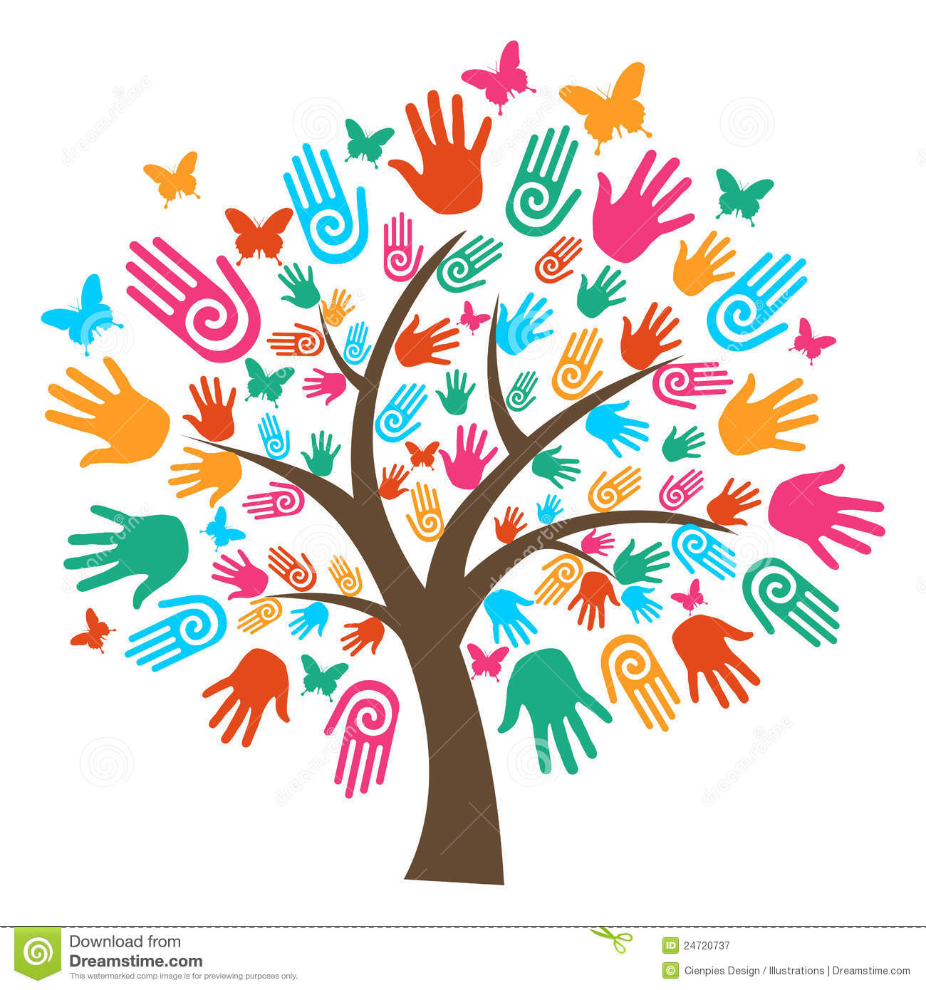 Gallery For > Handprint Tree Clipart.