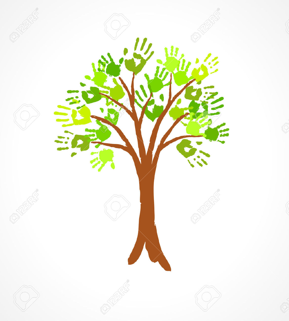 Clipart Handprint Tree Free.
