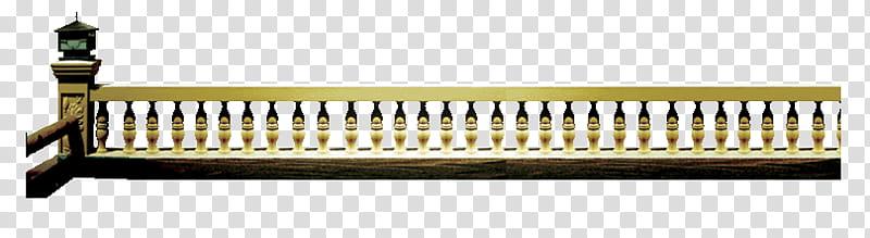 yellow concrete handrails transparent background PNG clipart.