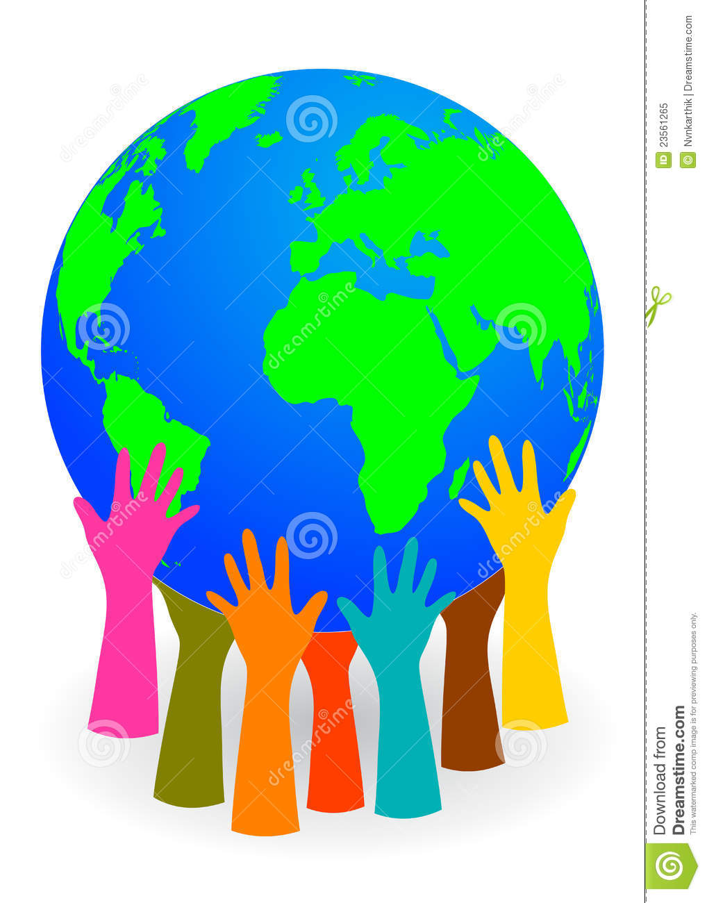 Hands Holding Up A Globe Royalty Free Stock Photo.