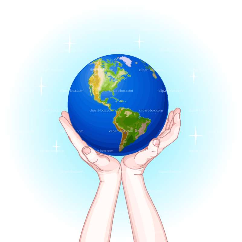 CLIPART HANDS ON GLOBE.