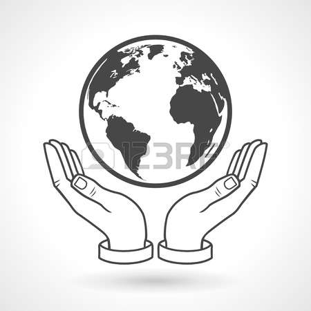 2,684 Hand Holding Globe Stock Vector Illustration And Royalty.