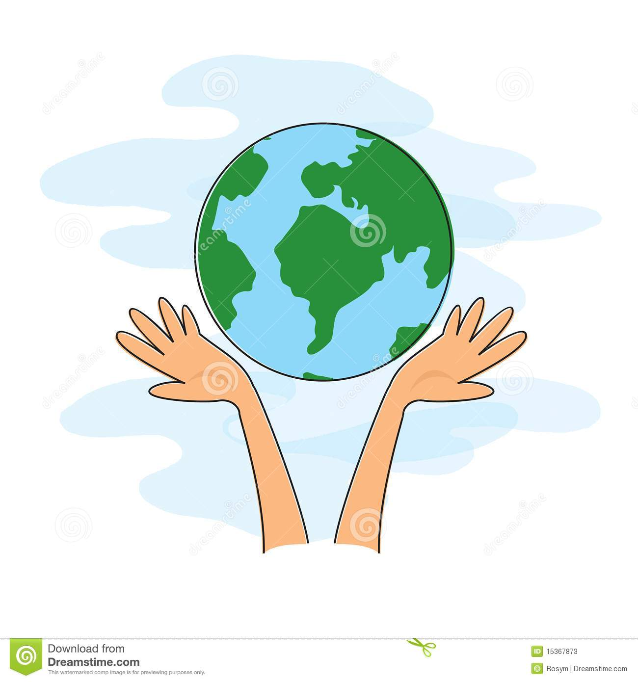 Two Hands Holding Globe Stock Illustrations.