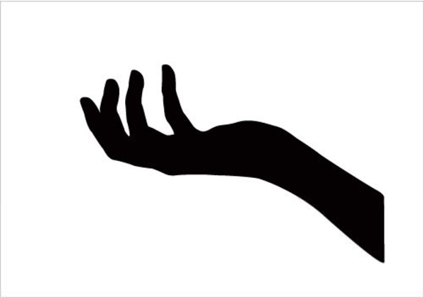 Hand Reaching Up Clipart.