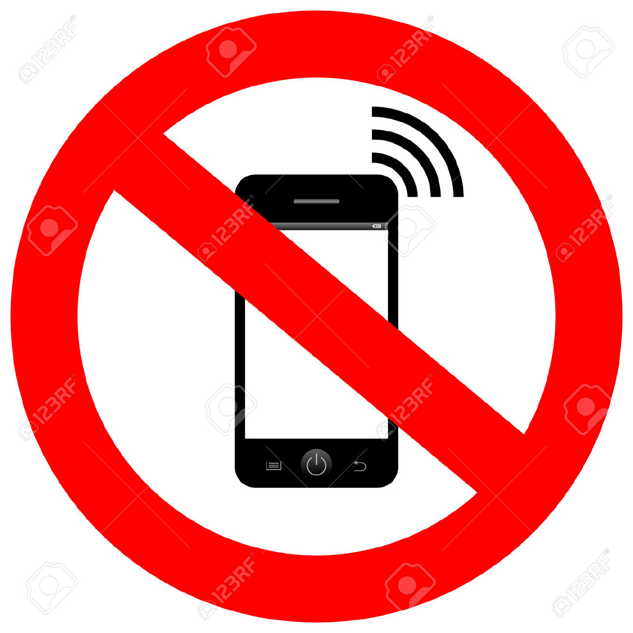 No Mobile Phone Sign Royalty Free Cliparts, Vectors, And Stock.