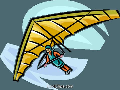 hang glider Royalty Free Vector Clip Art illustration.