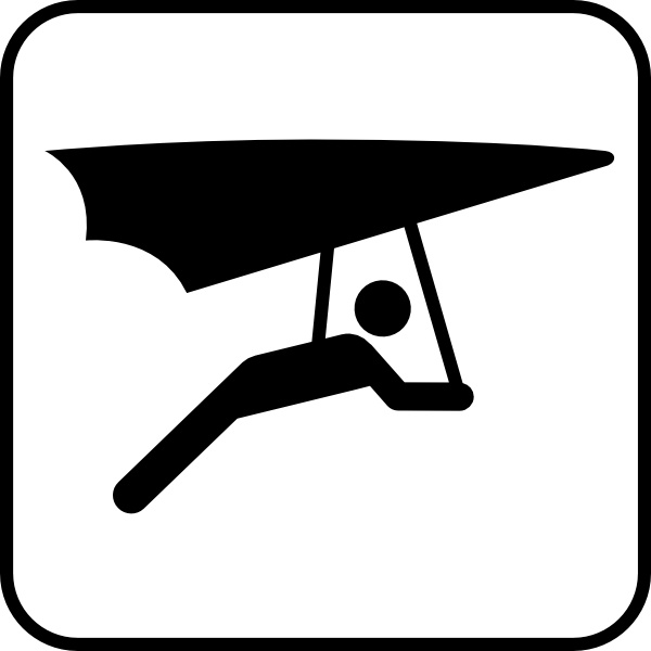 Hang Glider clip art Free vector in Open office drawing svg.