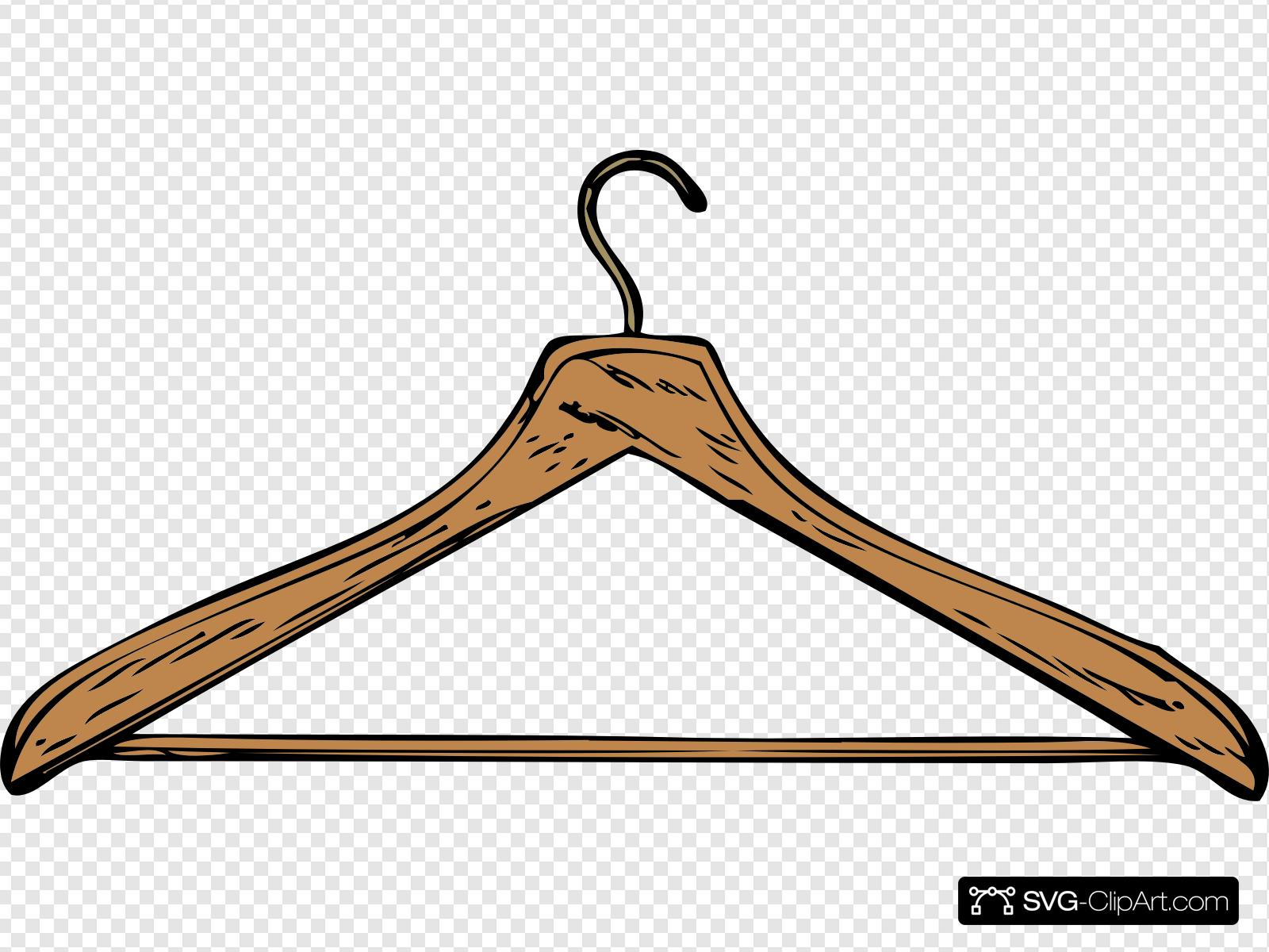 Wooden Hanger Clip art, Icon and SVG.