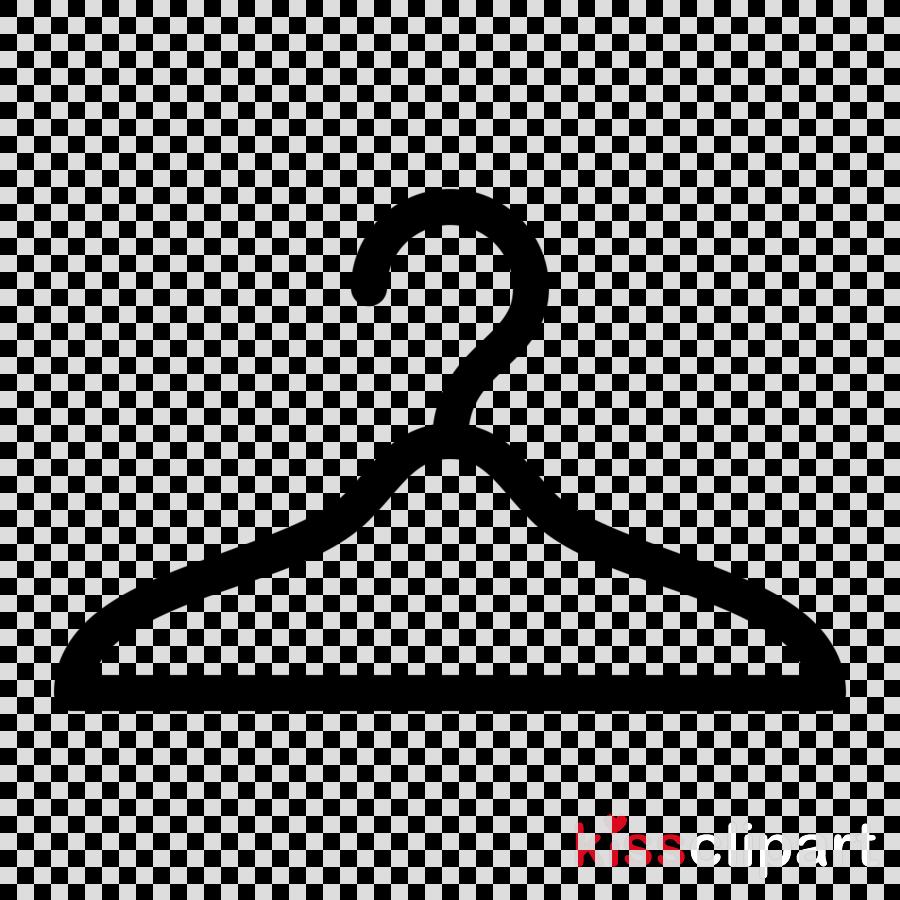 clothes hanger line logo home accessories symbol clipart.