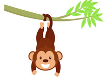 Monkey Clipart Hanging.