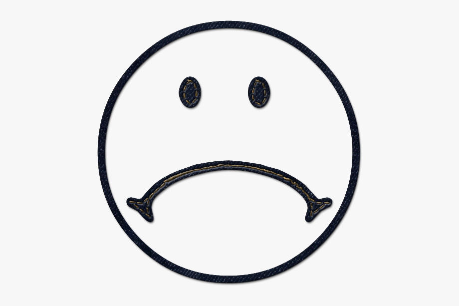 Sad Face Clipart Black And White.