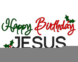 Happy Birthday Jesus Cake Clipart.
