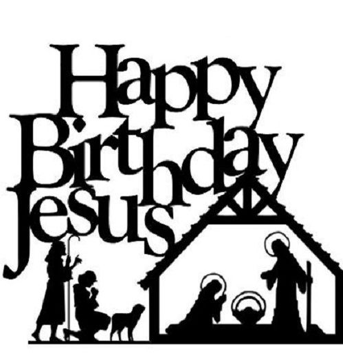 Happy Birthday Jesus Clip Art.