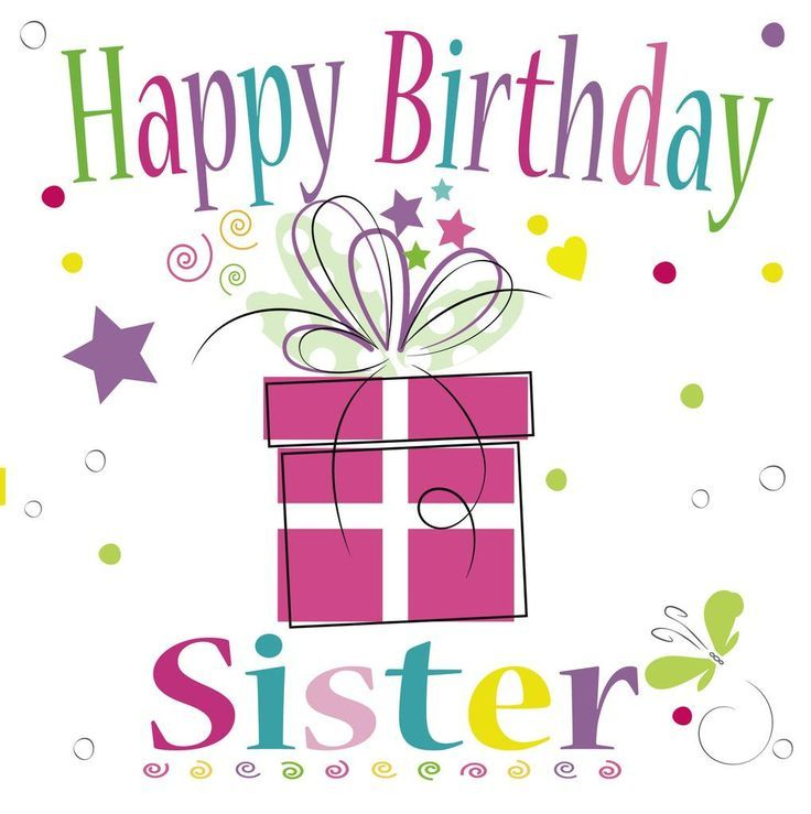 Happy Birthday Clipart For Sister.