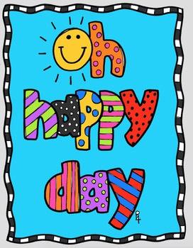 FREE P4 POSTER Oh Happy Day {P4 Clips Triorignals Digital Clipart}.