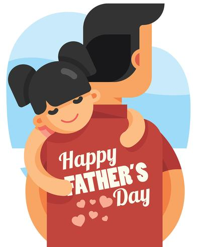 Happy Fathers Day Illustration.