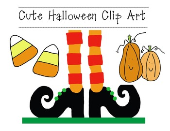 Cute Happy Halloween Clip Art.