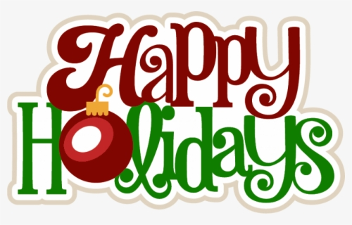 Free Happy Holidays Clip Art with No Background.