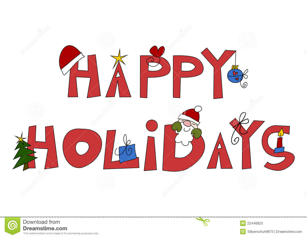 Happy Holiday Clipart.