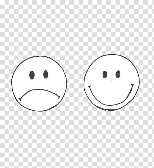 sad and happy smileys transparent background PNG clipart.