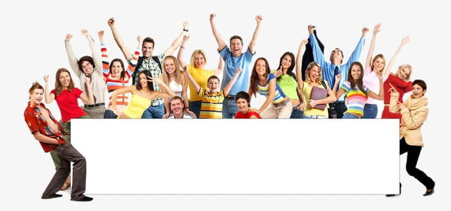 Happy people students PNG clipart.