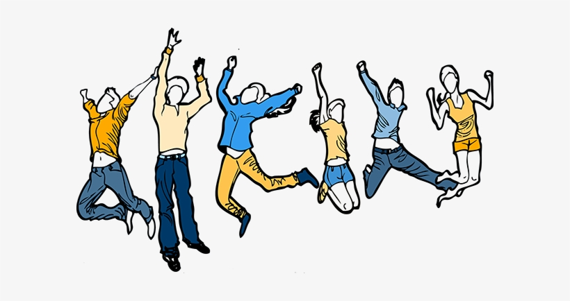 Happy Students Clipart.